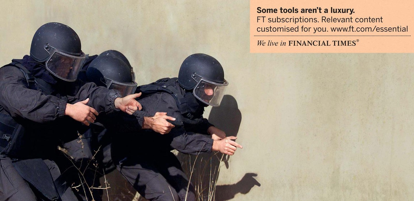 Print advertisement created by DDB, United Kingdom for Financial Times