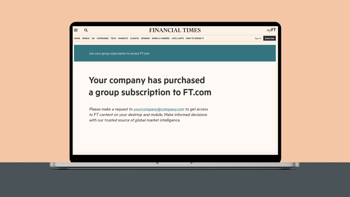 FT Group Subscription using Access Manager