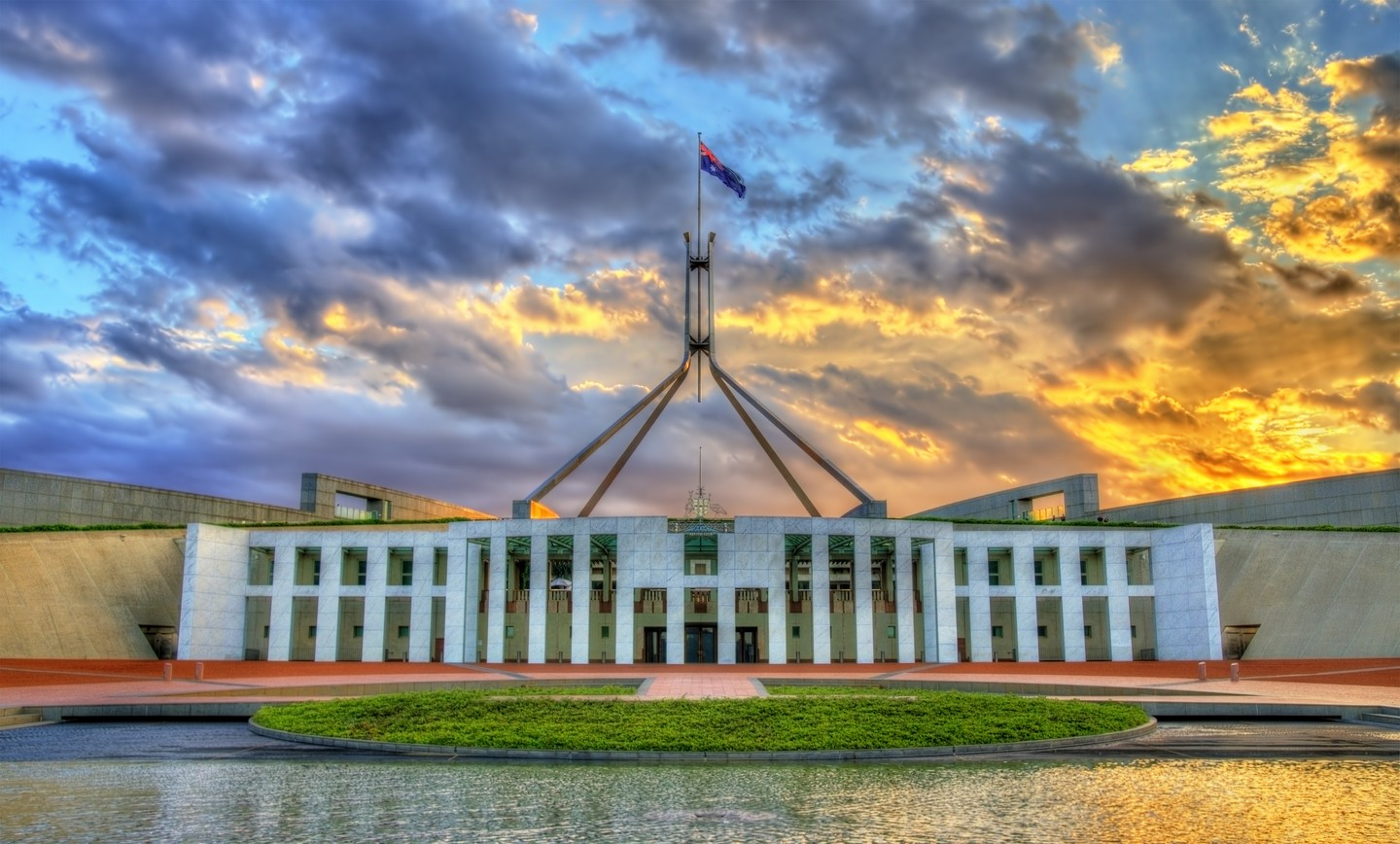 Parliament House in Canberra, Australia